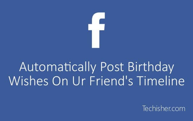 post birthday wishes automatically on FB post pic