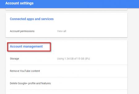 google plus profile deletion account management